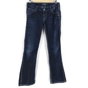 "Silver Frances 18"" Bootcut Jeans Darkwash 29/33"